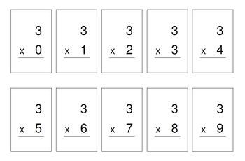 Multiplication Pocket Facts