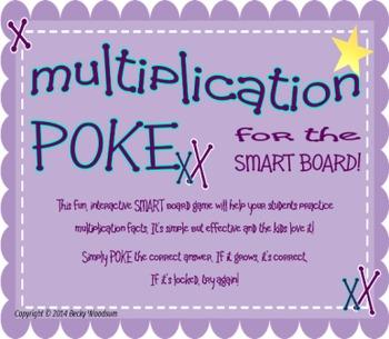Multiplication Poke Smart Board Game