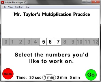 Multiplication Practice