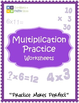 Multiplication Practice Worksheets with Answer Keys