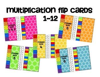 Multiplication Practice Flip & Check Task Cards
