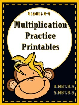 Multiplication Practice Printables - 4th grade