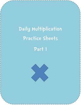 Multiplication Practice Sheets Part 1