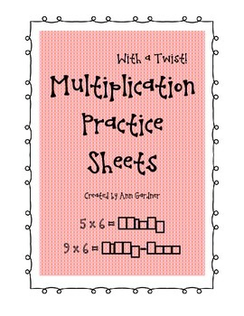 Multiplication Practice Sheets - with a Twist - Spell the