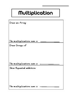 Multiplication Pre and Post Assessment Task