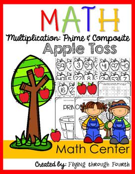 Multiplication: Prime & Composite {Apple Toss Math Center Game}