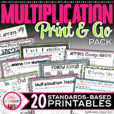 Multiplication Facts | Multiplication Centers | Multiplica