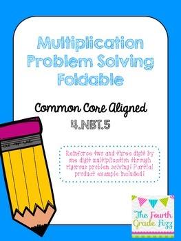 Multiplication Problem Solving Foldable