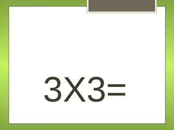 Multiplication: Product 36 Basic Just the Multiplication F