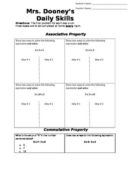 Multiplication Properties: Associative, Commutative, and D