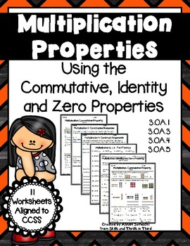 Multiplication Properties: Commutative,... by Skills and Thrills ...
