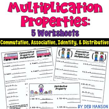 Multiplication Properties Worksheets