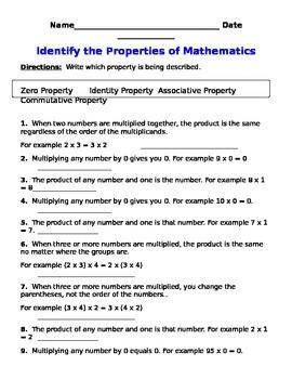 Multiplication Property Practice