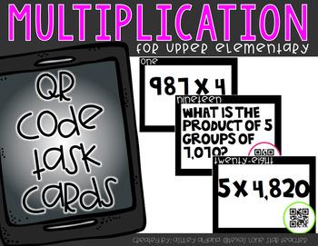 Multiplication QR Code Task Cards (Upper Elementary)