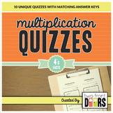Multiplication Quiz (4's Facts)