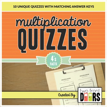 Multiplication Quiz (4's Facts)