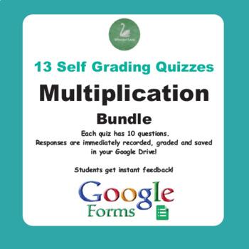 Multiplication Quiz with Google Forms - Bundle
