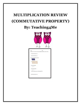 Commutative Property Multiplication