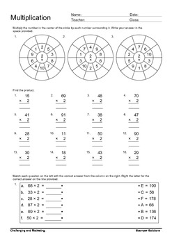 Multiplication Review  2-digit Multiplicand