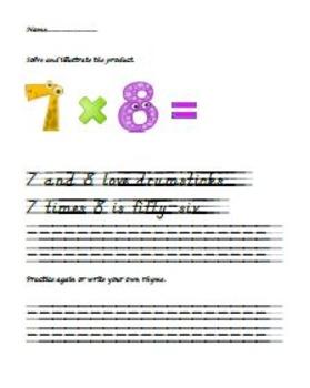 Multiplication Rhyme