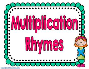 Multiplication Rhyme Posters