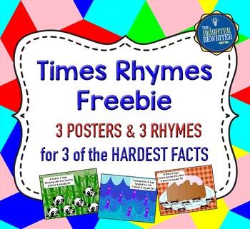 Multiplication Rhymes Posters FREE