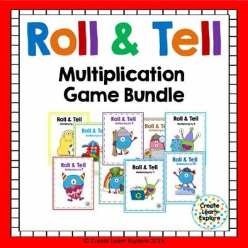 Multiplication Roll and Tell Game Bundle