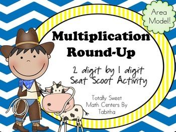 Multiplication Round-Up Seat Scoot 1x2 digit area model