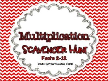 Multiplication Scavenger Hunt Facts 2-12