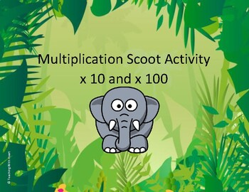 Multiplication Scoot Activity (x10 and x100)