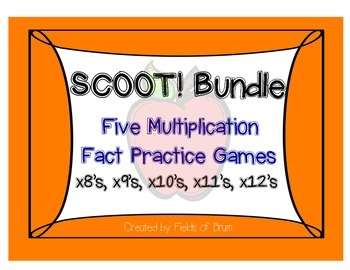 Multiplication Scoot Bundle x8 to x12