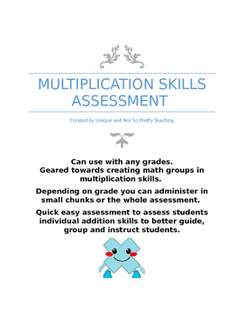 Multiplication Skills Assessment