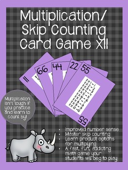 Multiplication/ Skip Counting Card Game x11