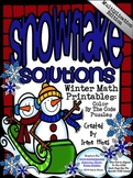 Multiplication Snowflake Solutions ~ Math Color By The Cod