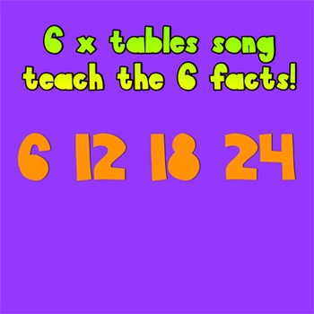 Multiplication Song- 6 times tables