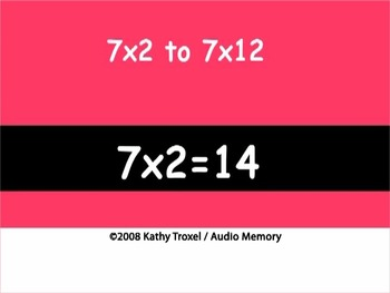 Multiplication Songs and Tests for 7s to 9s by Kathy Troxel