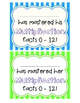 Multiplication Speedy Math Fact Packet