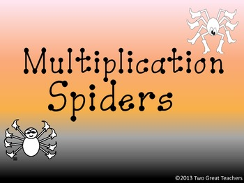 Multiplication Spiders