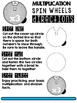 Multiplication Spin Wheels