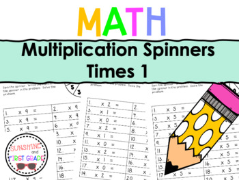 Multiplication Spinners 1