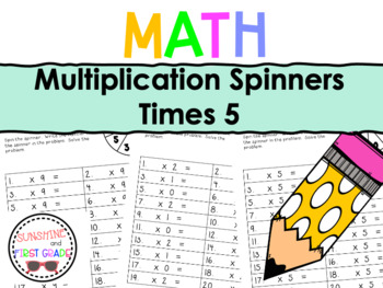 Multiplication Spinners 5