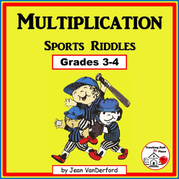 MULTIPLICATION PROBLEMS | SPORTS Themed Riddles | Color |