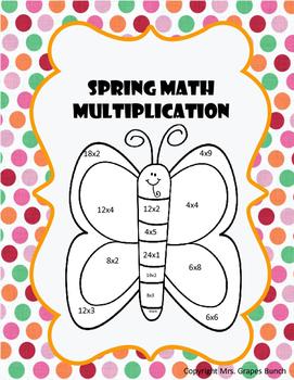 Multiplication Spring Math