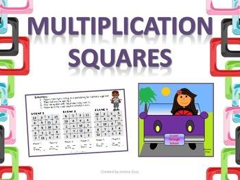 Multiplication Squares - partner game