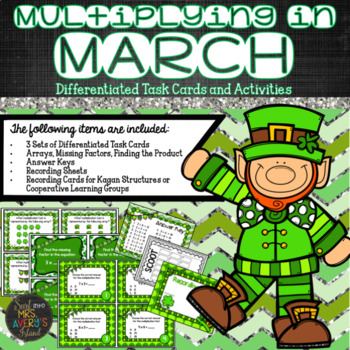 Multiplication, St. Patrick's Day, March, Differentiated T