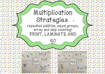 Multiplication Strategies Mat
