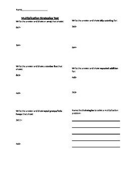 Multiplication Strategies Test