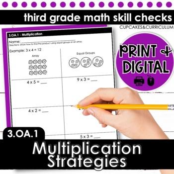 Multiplication Strategies - Third Grade Print and Go