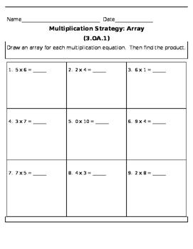 Multiplication Strategy: Arrays