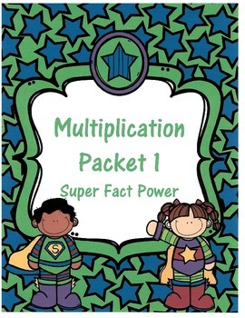 Multiplication Super Hero Packet #1
